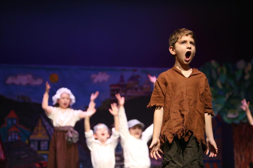 Мальчик в театре картинка